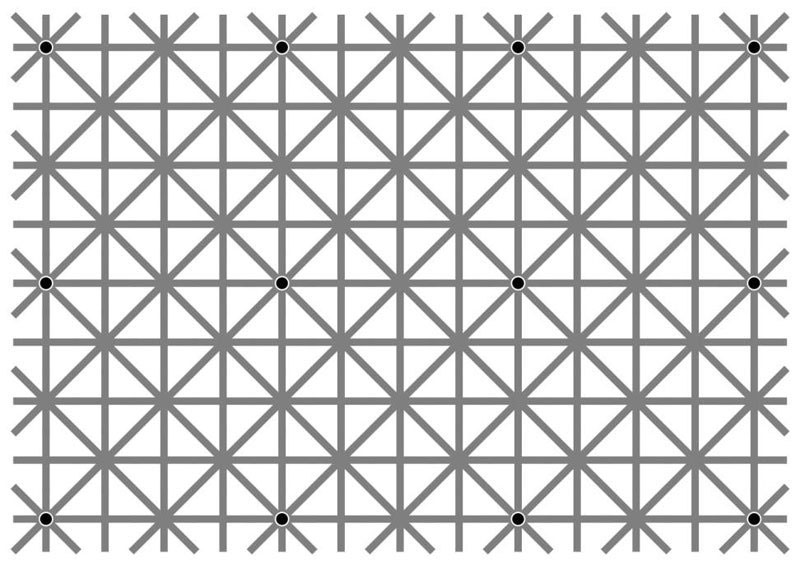 12 dots illusion by jacques ninio 1 of these 3 Illusions Will Make You Question Your Eyesight