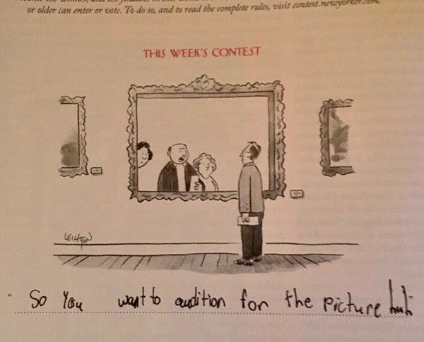 9 year old new yorker comic captions twitter viral 14 This 9 Year Old Girl Loves the New Yorkers Cartoon Caption Contest