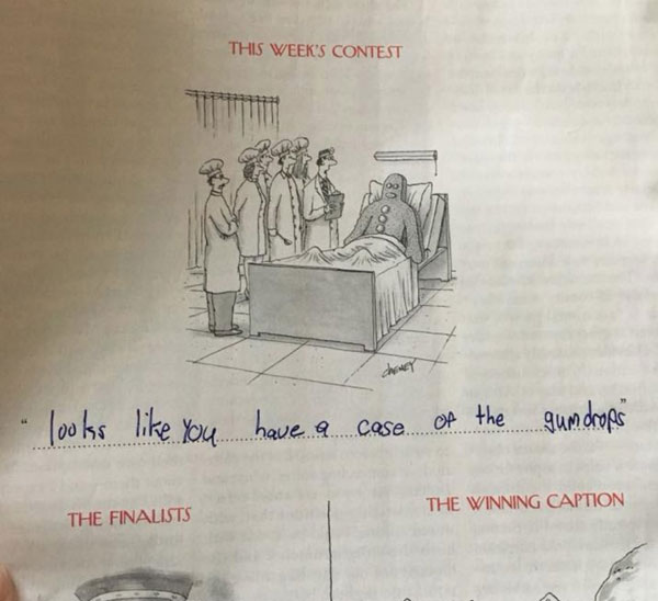 9 year old new yorker comic captions twitter viral 9 This 9 Year Old Girl Loves the New Yorkers Cartoon Caption Contest