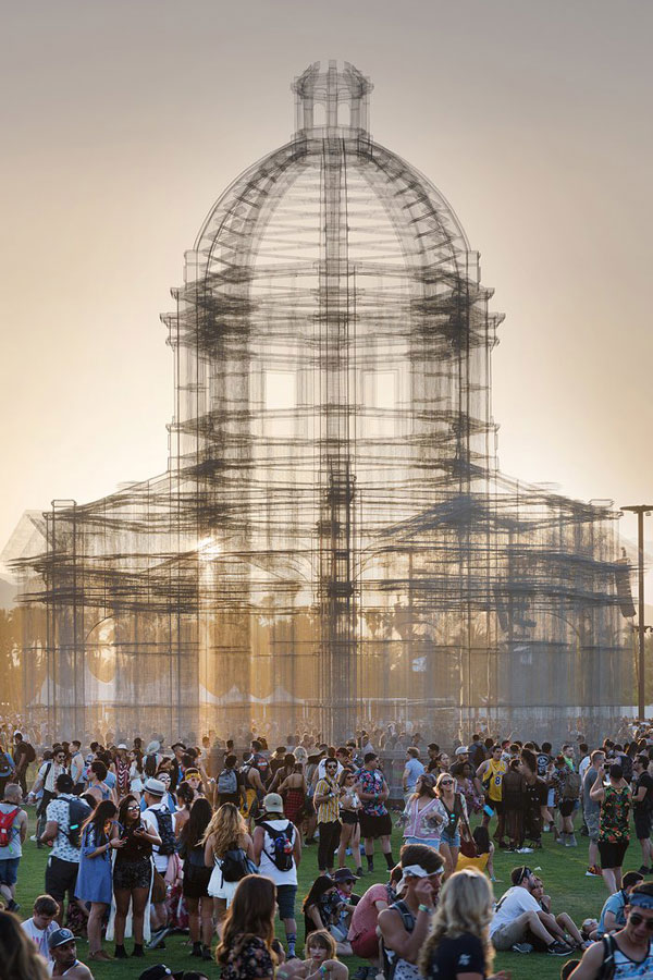 etherea by edoardo tresoldi coachella mesh sculpture 10 The Incredible Wire Mesh Sculptures that Punctuated the Coachella Skyline