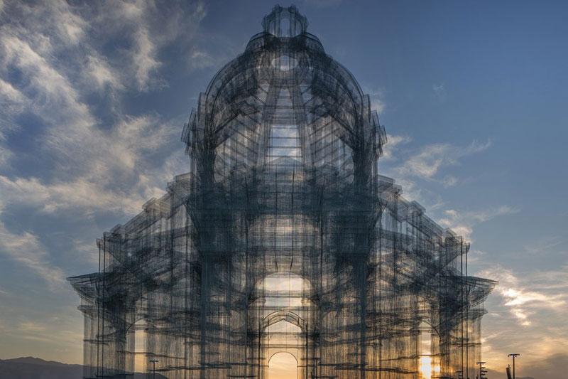 etherea by edoardo tresoldi coachella mesh sculpture 16 The Incredible Wire Mesh Sculptures that Punctuated the Coachella Skyline