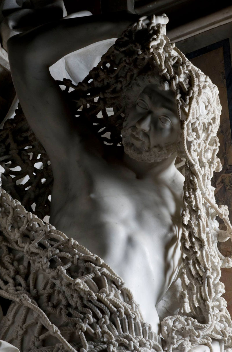 francesco queirol disillusion marble sculpture netting 3 This Tiny Chapel is Home to Some of the Greatest Marble Sculptures in History