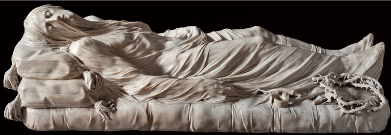 giuseppe sanmartino veiled christ marble sculpture shroud 2 This Tiny Chapel is Home to Some of the Greatest Marble Sculptures in History