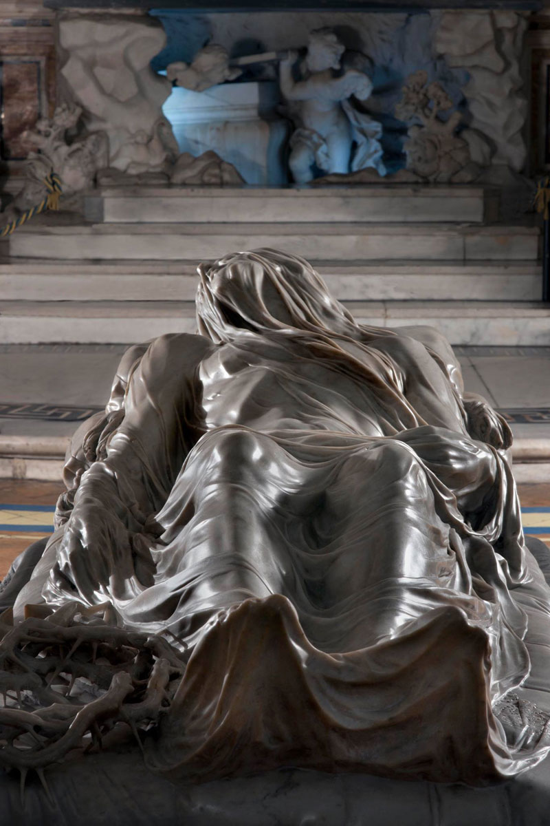 giuseppe sanmartino veiled christ marble sculpture shroud 5 This Tiny Chapel is Home to Some of the Greatest Marble Sculptures in History