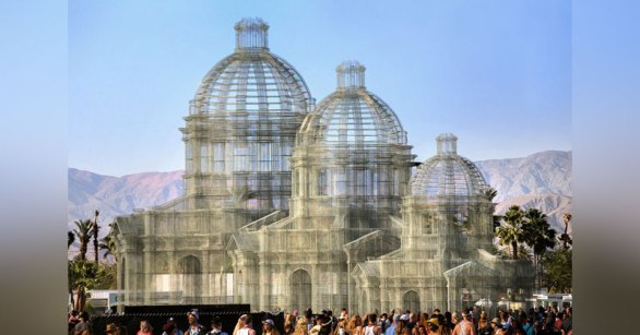 The Incredible Wire Mesh Sculptures that Punctuated the Coachella Skyline