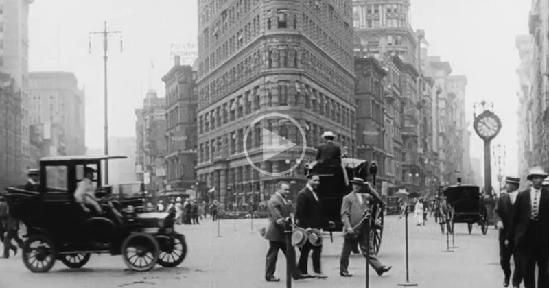 Unbelievable HQ Video of New York City Life in1911
