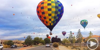 Driving Through a Hot Air Balloon Festival is Completely Surreal and Totally Awesome