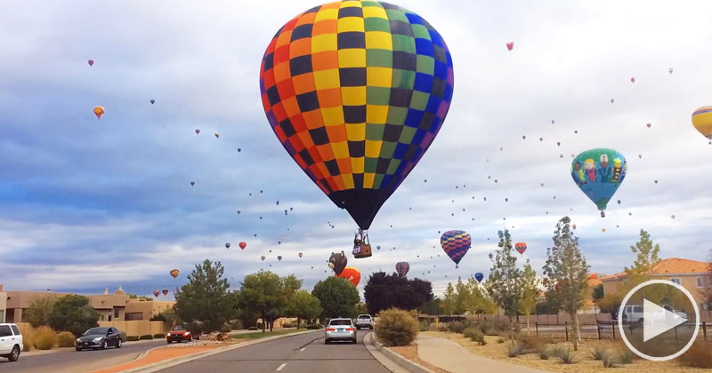 Driving Through a Hot Air Balloon Festival is Completely Surreal and TotallyAwesome