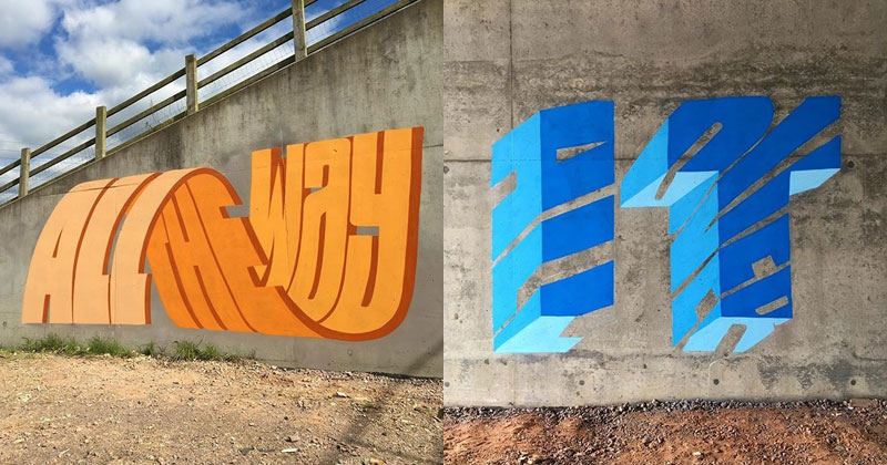 Graffiti Artist Puts Artistic Spin on Word Riddles (17 Pics)