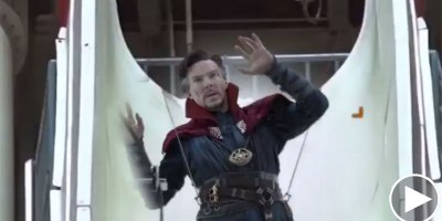 Guy Takes Every Dr. Strange Green Screen Clip He Can Find and Edits Him Into aWaterpark