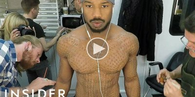 How Michael B. Jordan's Black Panther Makeup Was Done