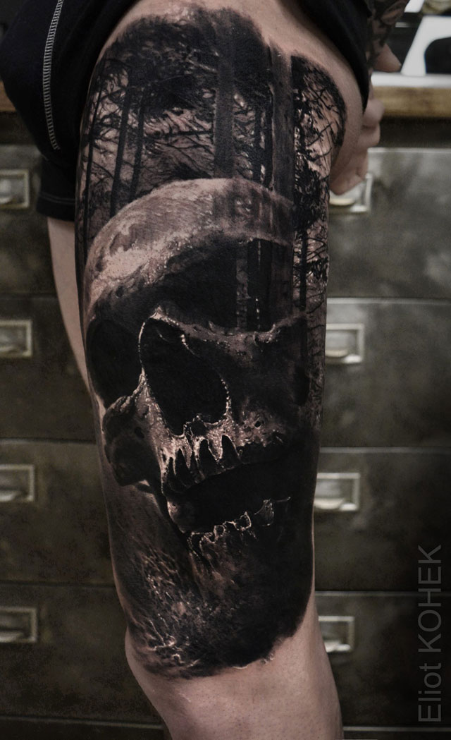 incredibly realistic 3d tattoos by eliot kohek 1 14 Incredibly Realistic 3D Tattoos by Eliot Kohek