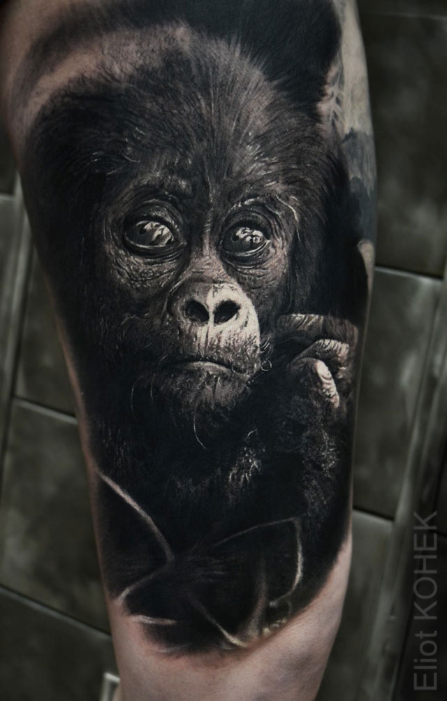 incredibly realistic 3d tattoos by eliot kohek 2 14 Incredibly Realistic 3D Tattoos by Eliot Kohek