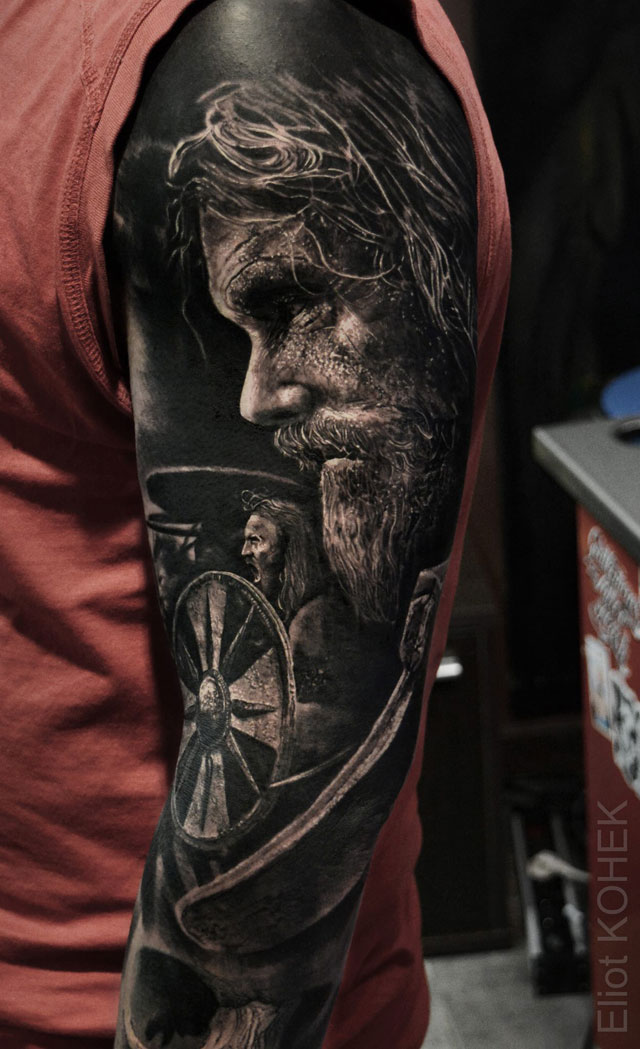 incredibly realistic 3d tattoos by eliot kohek 3 14 Incredibly Realistic 3D Tattoos by Eliot Kohek