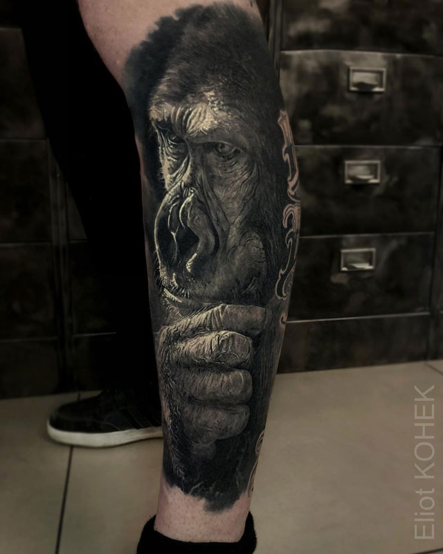 incredibly realistic 3d tattoos by eliot kohek 6 14 Incredibly Realistic 3D Tattoos by Eliot Kohek