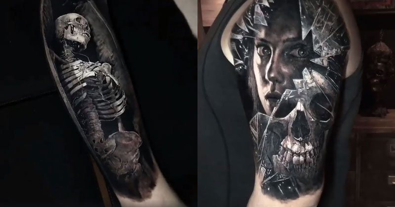 14 Incredibly Realistic 3D Tattoos by EliotKohek