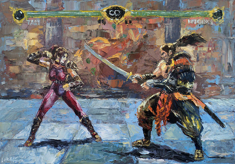nikolay lobzov 08sc oil Artist Pays Homage to Classic Video Games with Awesome Oil Paintings