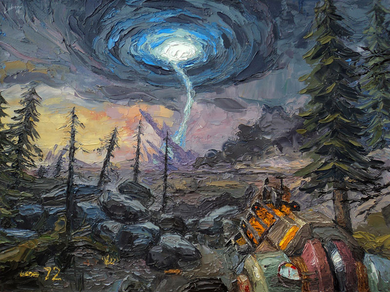 nikolay lobzov hl2 ep2 Artist Pays Homage to Classic Video Games with Awesome Oil Paintings