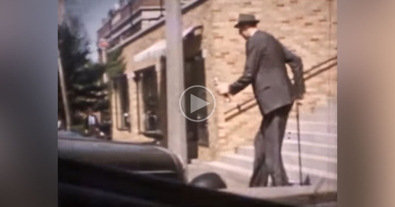 rare color footage from the 1930s of the tallest person in recorded