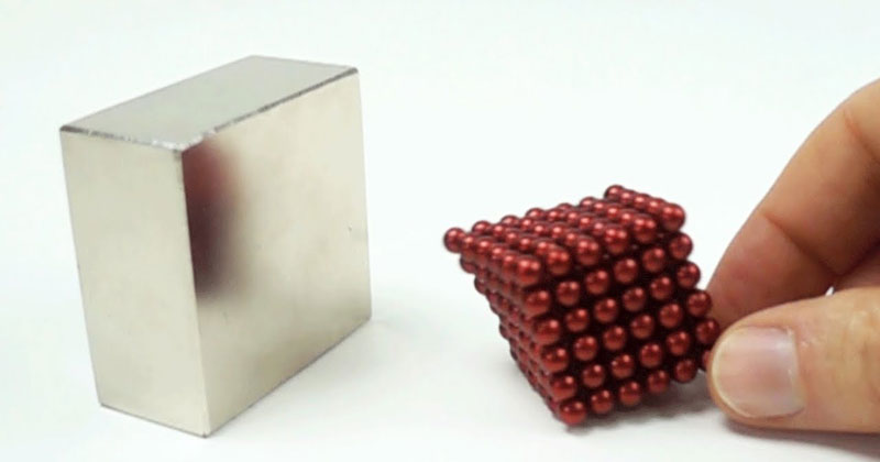 Slow Motion Magnet Collisions at 1000 fps