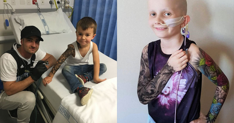 Artist Gives Kids Temporary Tats to Try to Make Hospital Life MoreFun