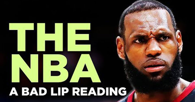 A Bad Lip Reading of theNBA