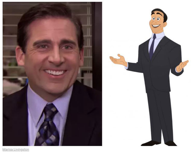 cast of the office as cartoon characters by marisa livingston 1 What Each Character Would Look Like in a Cartoon Version of The Office