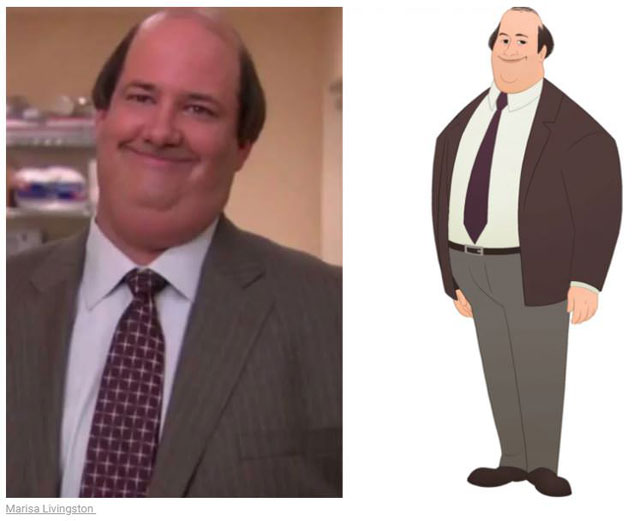 cast of the office as cartoon characters by marisa livingston 10 What Each Character Would Look Like in a Cartoon Version of The Office