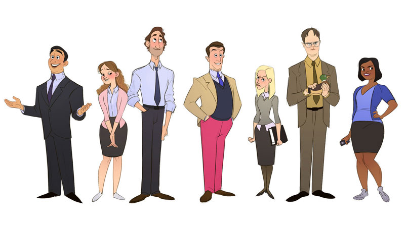 cast of the office as cartoon characters by marisa livingston 15 What Each Character Would Look Like in a Cartoon Version of The Office