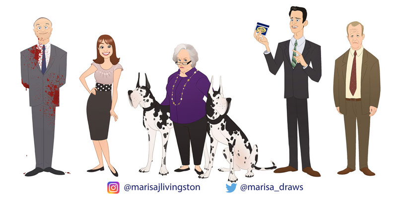 cast of the office as cartoon characters by marisa livingston 18 What Each Character Would Look Like in a Cartoon Version of The Office