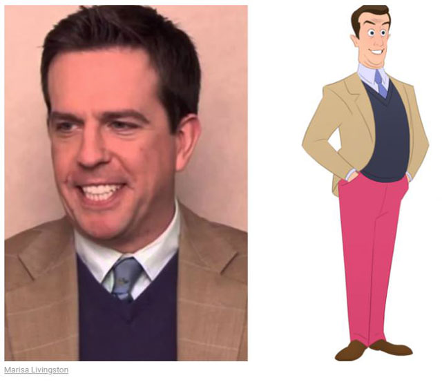 cast of the office as cartoon characters by marisa livingston 2 What Each Character Would Look Like in a Cartoon Version of The Office