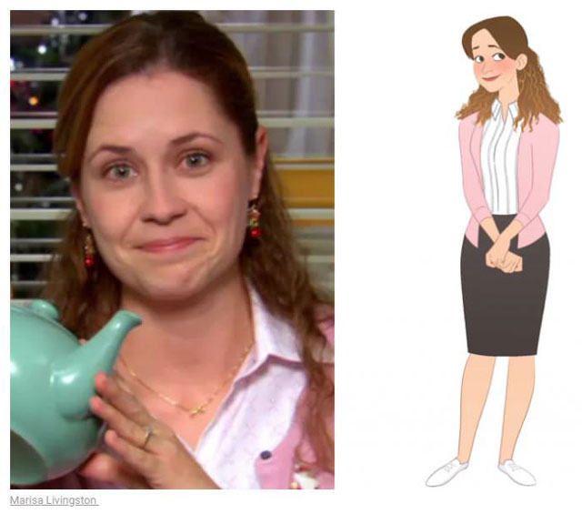 cast of the office as cartoon characters by marisa livingston 9 What Each Character Would Look Like in a Cartoon Version of The Office