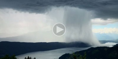 Timelapse Captures Incredible Cloudburst Over Austria's Lake Millstatt