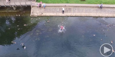 Epic Drone Save Over Water From the Drone'sPOV