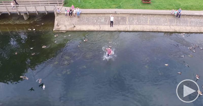 Epic Drone Save Over Water From the Drone's POV