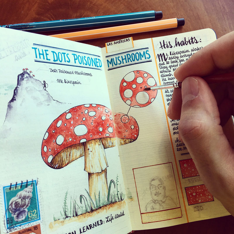 jose naranja sketchbooks gallery 10 This Artist Keeps the Most Beautiful Sketchbooks I Have Ever Seen