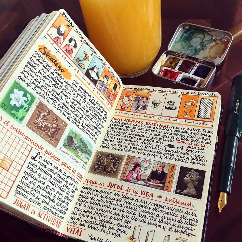jose naranja sketchbooks gallery 12 This Artist Keeps the Most Beautiful Sketchbooks I Have Ever Seen