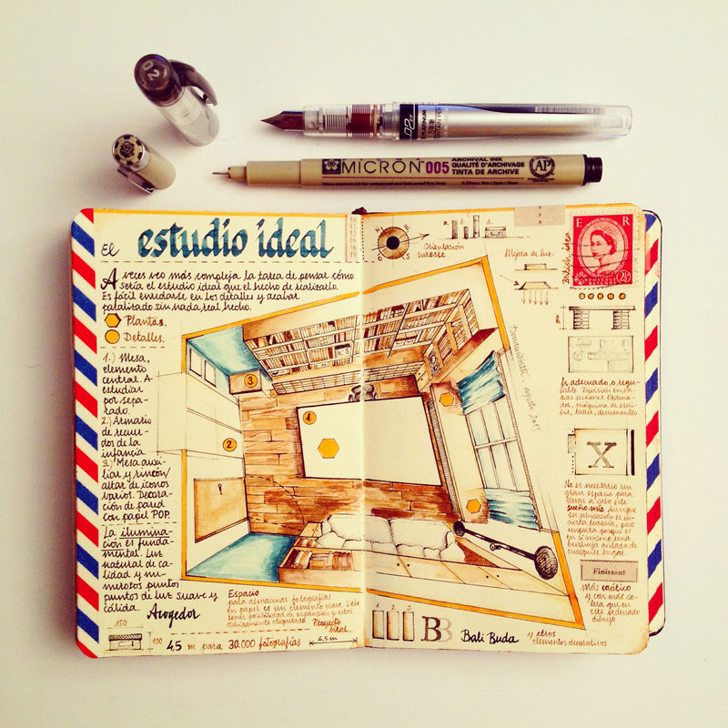 jose naranja sketchbooks gallery 15 This Artist Keeps the Most Beautiful Sketchbooks I Have Ever Seen