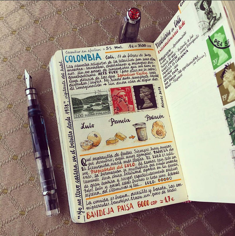 jose naranja sketchbooks gallery 4 This Artist Keeps the Most Beautiful Sketchbooks I Have Ever Seen