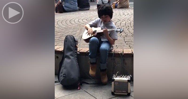 This Little Kid Playing Classical Gas on Ukulele Is What You