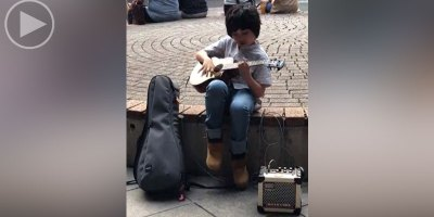 This Little Kid Playing Classical Gas on Ukulele Is What You Need Right Now