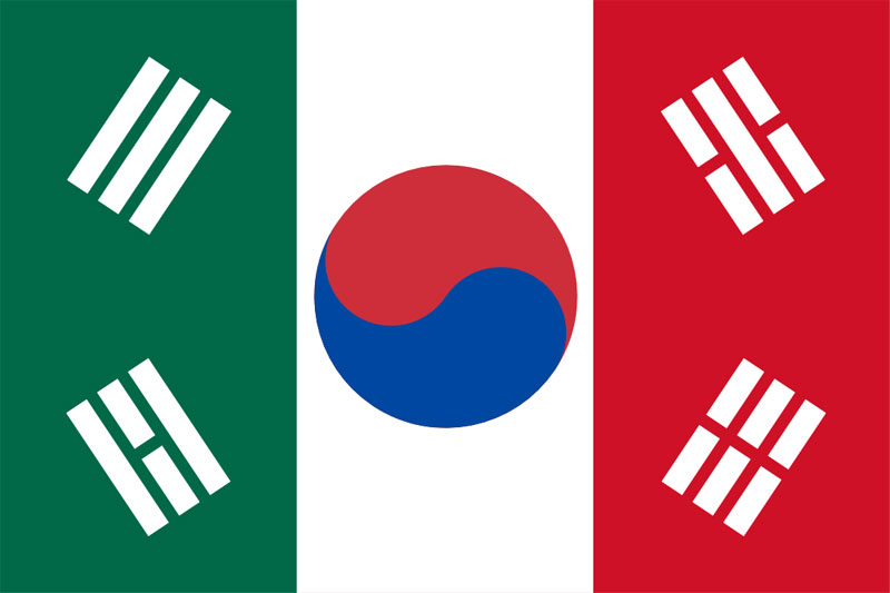mexican korean flag The Definitive Compilation of Mexico Thanking Korea for Beating Germany