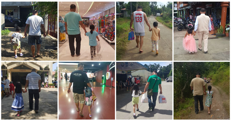 This Mom's Been Sneaking Pics of Husband/Daughter Holding Hands Since 2014