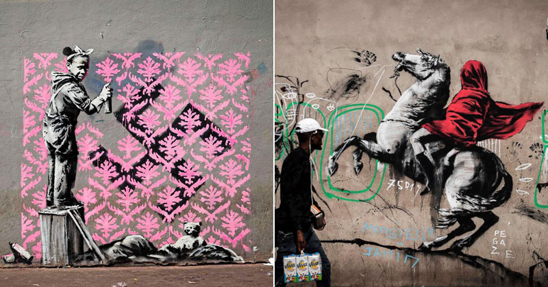 Banksy Just Blitzed Paris With At Least 10 New Pieces