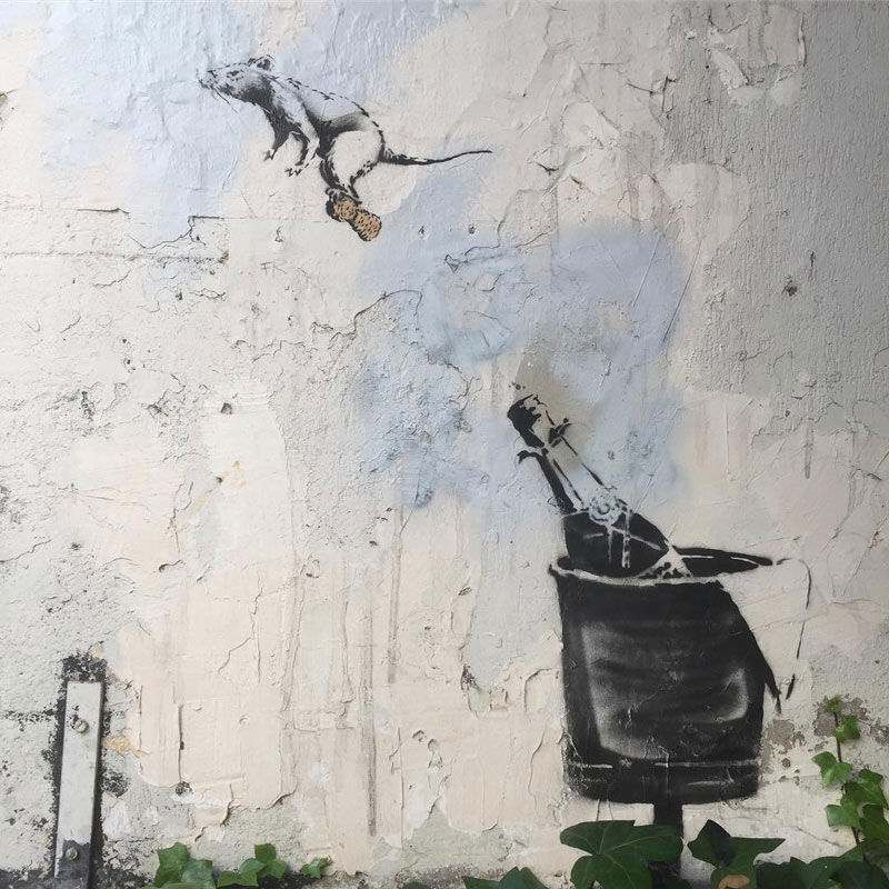 new banksy in paris france 2 Banksy Just Blitzed Paris With At Least 10 New Pieces