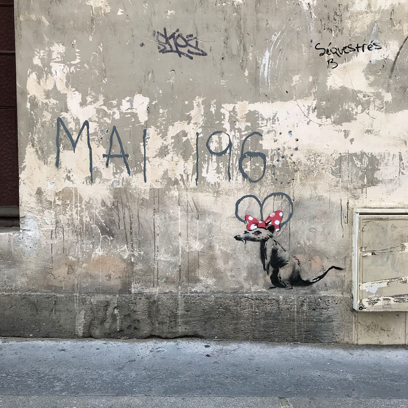 new banksy in paris france 3 Banksy Just Blitzed Paris With At Least 10 New Pieces