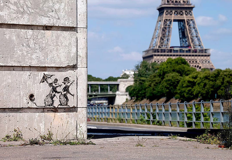 new banksy in paris france 4 Banksy Just Blitzed Paris With At Least 10 New Pieces