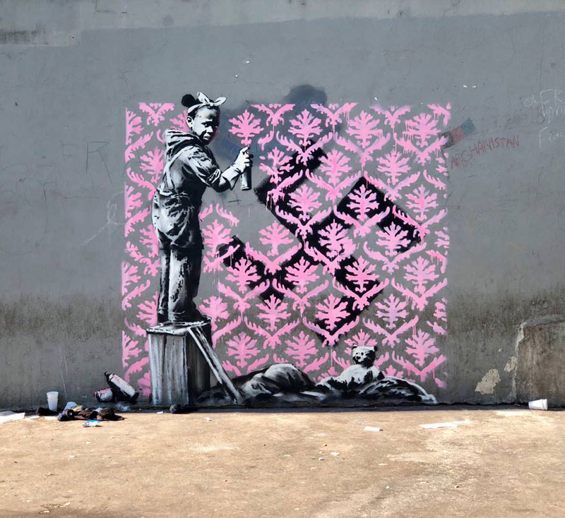new banksy in paris france 8 Banksy Just Blitzed Paris With At Least 10 New Pieces
