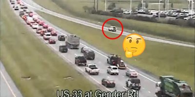 Traffic Camera Captures Most Absurd Reverse DrivingEver