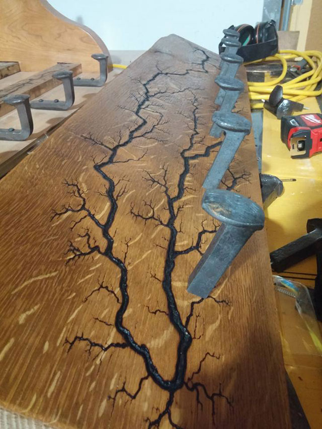 This Artist Burns Fractals Into Wood And Then Turns It Into Furniture 1  This Artist Burns